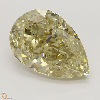 6.01 ct, Natural Fancy Brownish Yellow Even Color, IF, Pear cut Diamond (GIA Graded), Unmounted, Appraised Value: $134,500