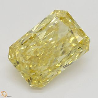 2.01 ct, Natural Fancy Orangy Yellow Even Color, SI1, Radiant cut Diamond (GIA Graded), Unmounted, Appraised Value: $60,900
