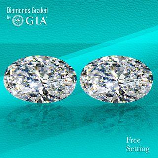 4.50 carat diamond pair Oval cut Diamond GIA Graded 1) 2.20 ct, Color D, VVS2 2) 2.30 ct, Color D, VVS2. Unmounted. Appraised Value: $145,800