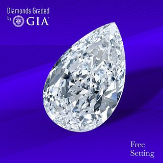 2.01 ct, H/VVS2, Pear cut Diamond. Unmounted. Appraised Value: $38,300