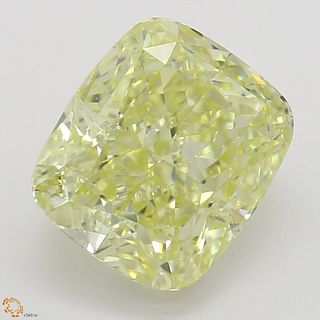 2.22 ct, Natural Fancy Yellow Even Color, SI1, Cushion cut Diamond (GIA Graded), Unmounted, Appraised Value: $29,900