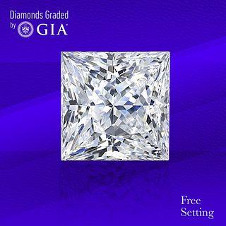 4.02 ct, F/VS2, Princess cut Diamond. Unmounted. Appraised Value: $193,400