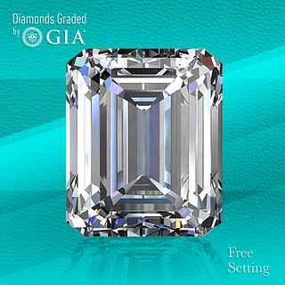 3.07 ct, F/VS2, Emerald cut Diamond. Unmounted. Appraised Value: $107,400