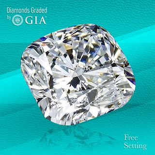 4.30 ct, E/VS2, Cushion cut Diamond. Unmounted. Appraised Value: $266,600