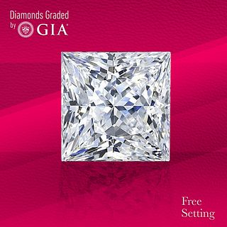 6.05 ct, F/VS1, Princess cut Diamond. Unmounted. Appraised Value: $619,300