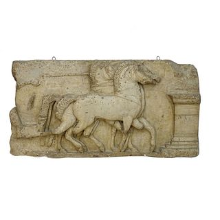 French Plaster Relief Cast of Temple of Siphnos