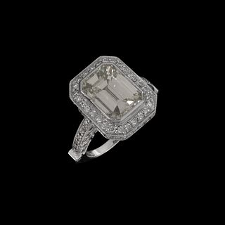 EGL Diamond and 18K Engagement Ring