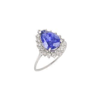 AIG Tanzanite, Diamond and 14K Ring