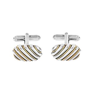 Tiffany & Co 18K and Sterling Cufflinks
