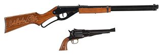 Black Powder Revolver and Red Ryder BB Gun