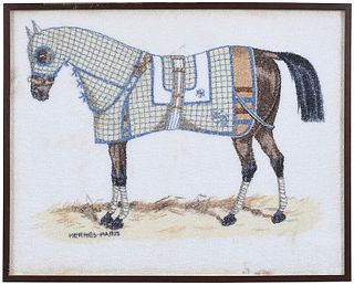 Framed Herm?s Horse Print on Terry Cloth Towel
