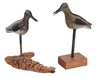 Two Folding Tin Shore Bird Decoys