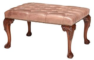 Chippendale Style Carved Mahogany Bench