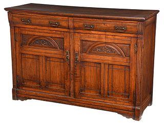 Victorian Carved Walnut Sideboard Server