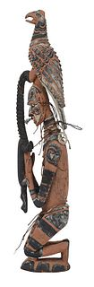 Papua New Guinea Carved and Polychrome Figure