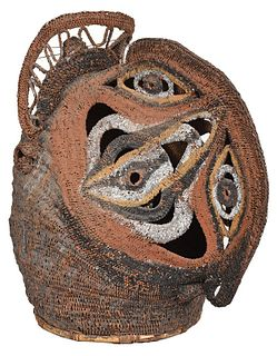 Papua New Guinea Abelam Woven Basketry Mask