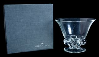 Steuben Glass Foliated Bowl by James McNaughton