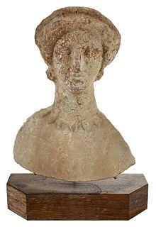 A Cypriot Terracotta Bust of a Woman