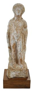 A Greek Terracotta Figure of Youth, Boeotia