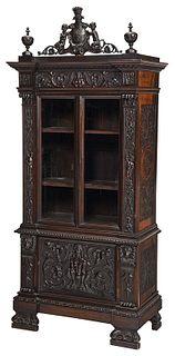 Italian Renaissance Style Bookcase Cabinet