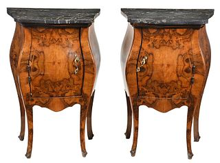 Pair Baroque Style Bomb? Bedside Commodes