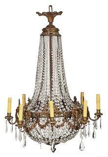 Louis XVI Style Eight Light Chandelier