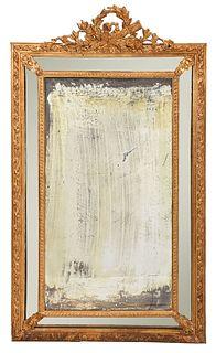 Italian Louis XVI Style Gilt Mirror Framed Mirror