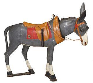 Gustave Bayol Nodder Head Donkey Carousel Animal