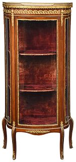 Louis XV Style Curved Glass Vitrine