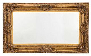 Louis XV Style Gilt Framed Beveled Mirror
