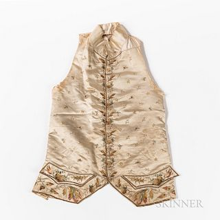 Embroidered Silk Waistcoat