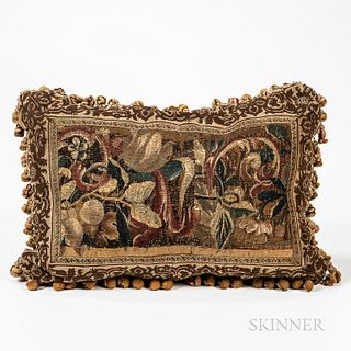 Embroidered Tapestry Pillow