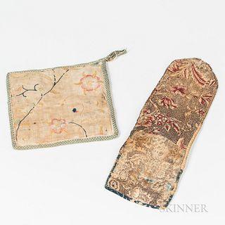 Printed Linen Huswif and Crewelwork Potholder