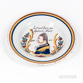 Polychrome Decorated William of Orange Plate