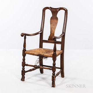 Queen Anne Vase-back Armchair