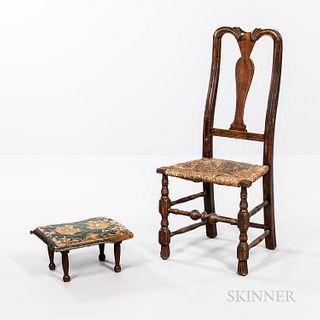 Queen Anne Vase-back Side Chair