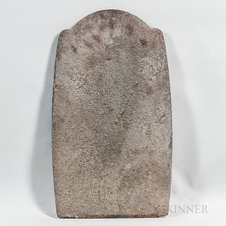 Cast Iron Tombstone-form Fireback