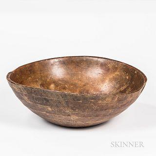 Large Turned Chestnut Bowl