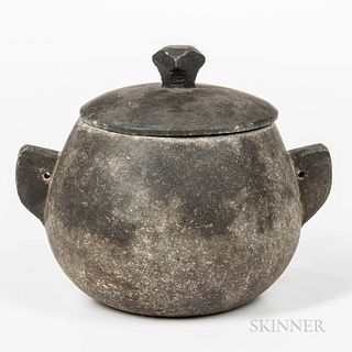 Covered Soapstone Cooking Vessel