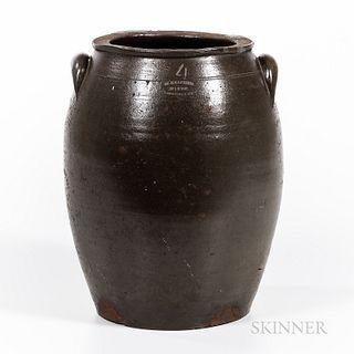 Four-gallon Stoneware Jar