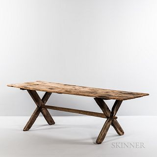 Pine Sawbuck Dining Table