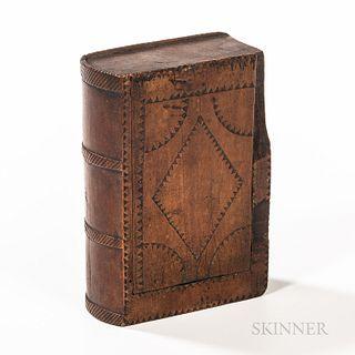 Chip-carved Slide-lid Book-form Box