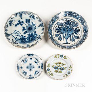Four Tin-glazed Dishes