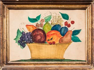 Watercolor on Paper Theorem of a Basket of Fruit
