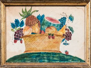 Watercolor Theorem of a Basket of Fruit