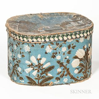 Blue Wallpaper-covered Box