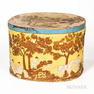Yellow Wallpaper-covered Box