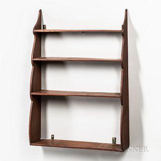 Mahogany Four-tier Shelf