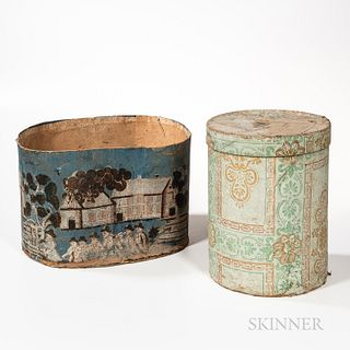 Two Wallpaper-covered Boxes