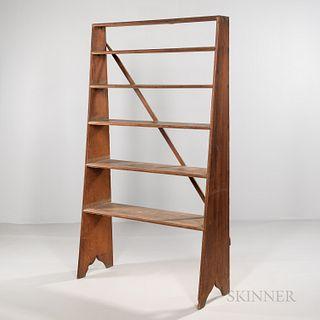 Canted Pine Bookshelf